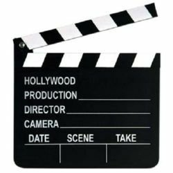Clapboard Movie Set with Chalk