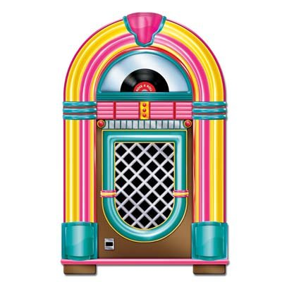 Rock & Roll Neon Jukebox Cutout