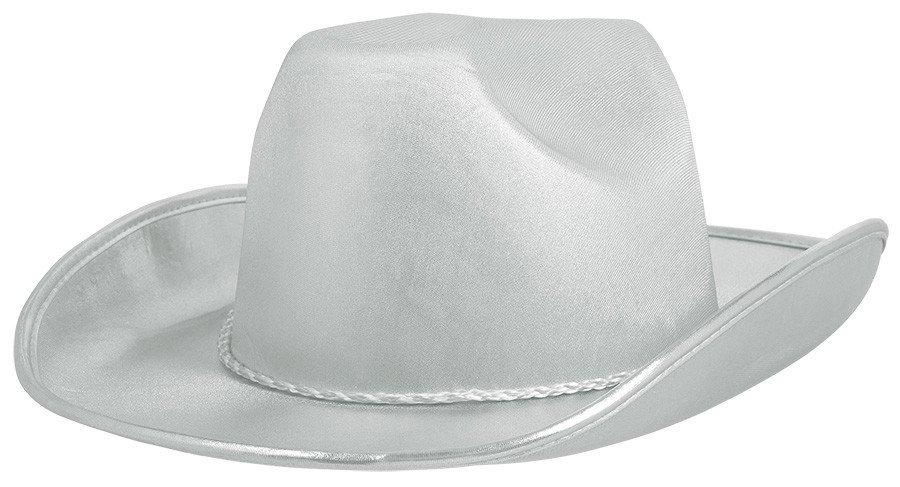 Cowboy Velour Hat - Silver