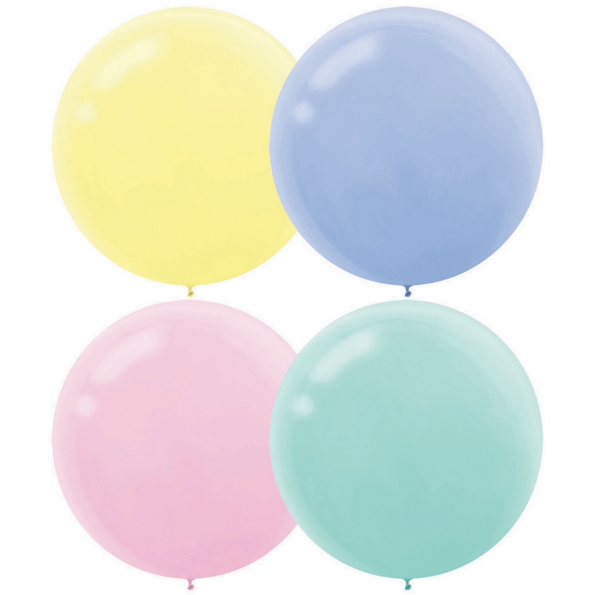 Latex Balloons 60cm 4CT Pastel Assorted