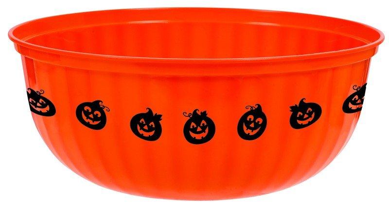 Large Jack-O-Lantern Bowl Plastic