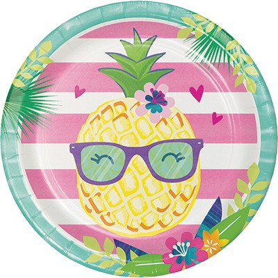 Pineapple N Friends Dinner Plates Paper 22cm