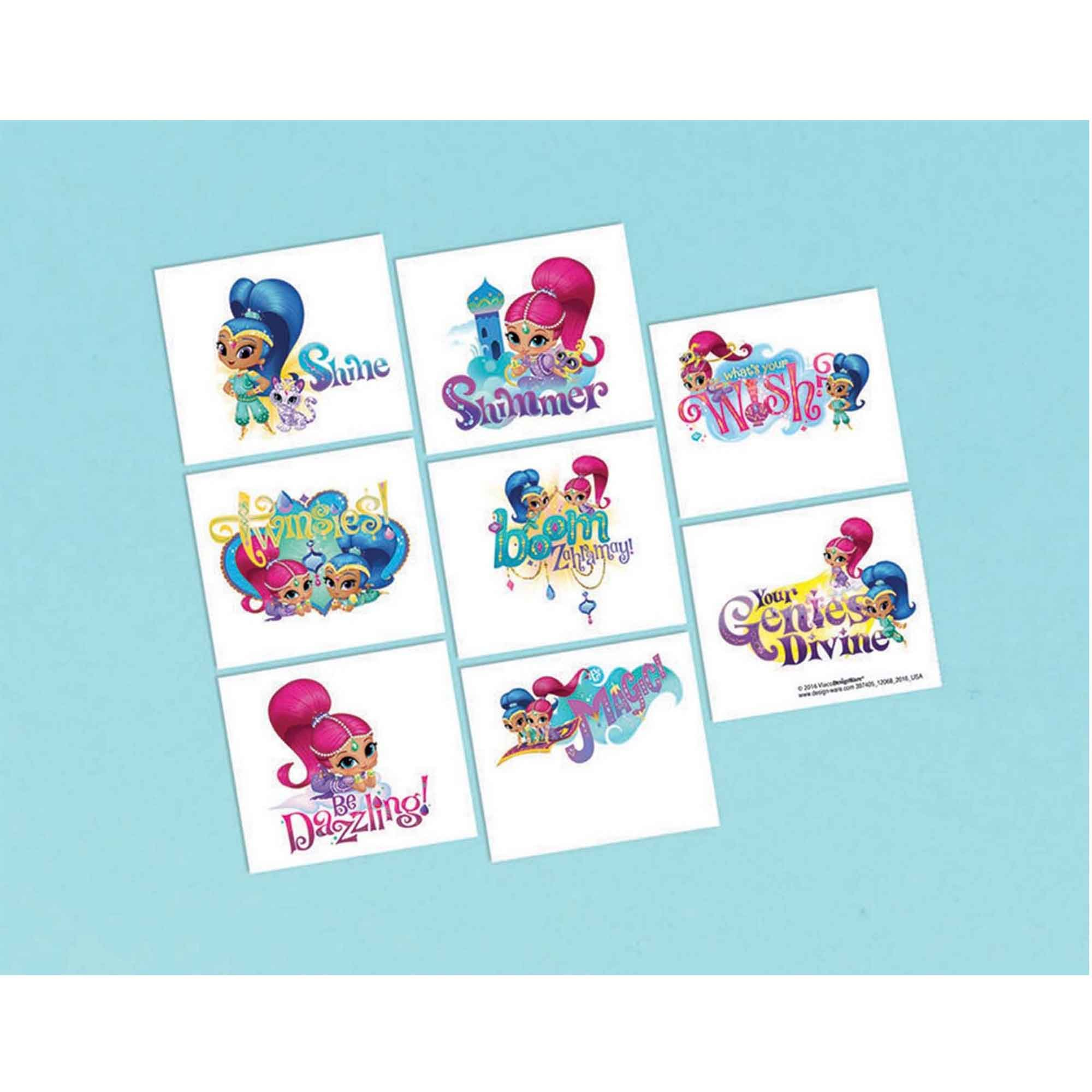 Shimmer and Shine Tattoos