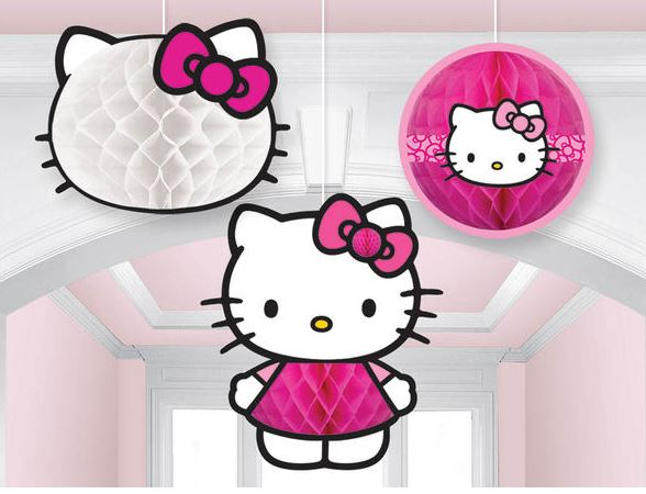 Hello Kitty Rainbow Honeycomb Decorations - Tissue & Printed Paper