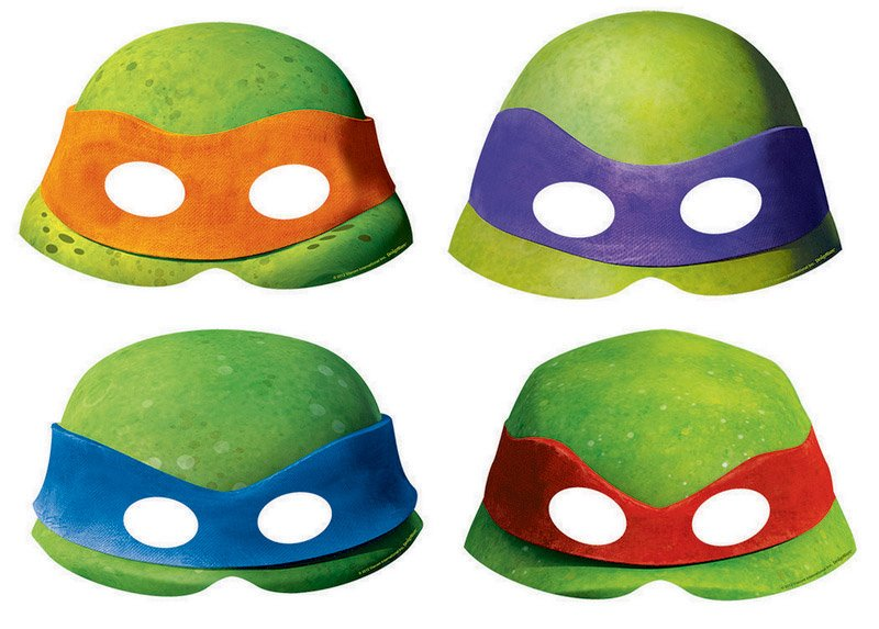 Teenage Mutant Ninja Turtles Paper Masks