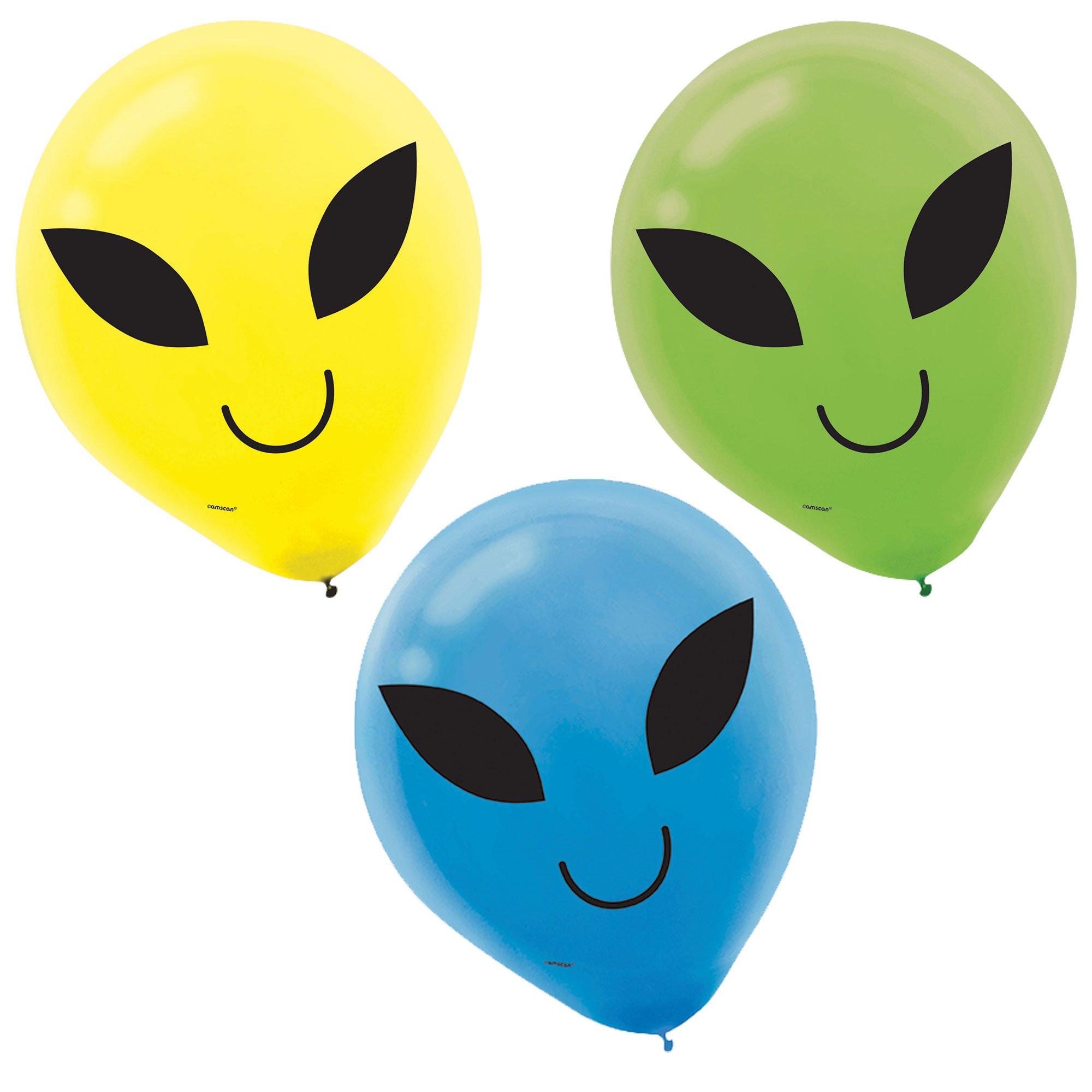 Blast Off Birthday 30cm Printed Latex Balloons