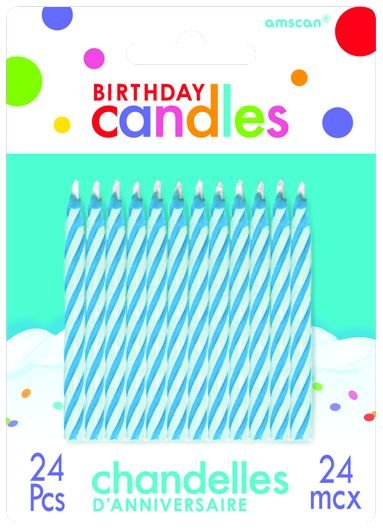 Candy Stripe Candles Blue