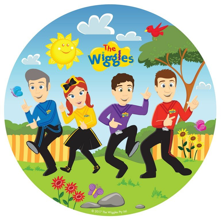 The Wiggles 23cm Round Plates