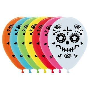 Sempertex 30cm Catrina Day of The Dead Fashion Assorted Latex Balloons, 12PK