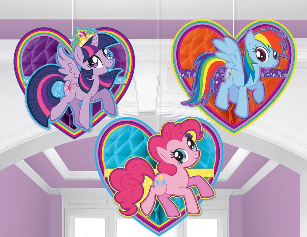 My Little Pony Friendship Honeycomb Decorations - Tissue & Printed Paper