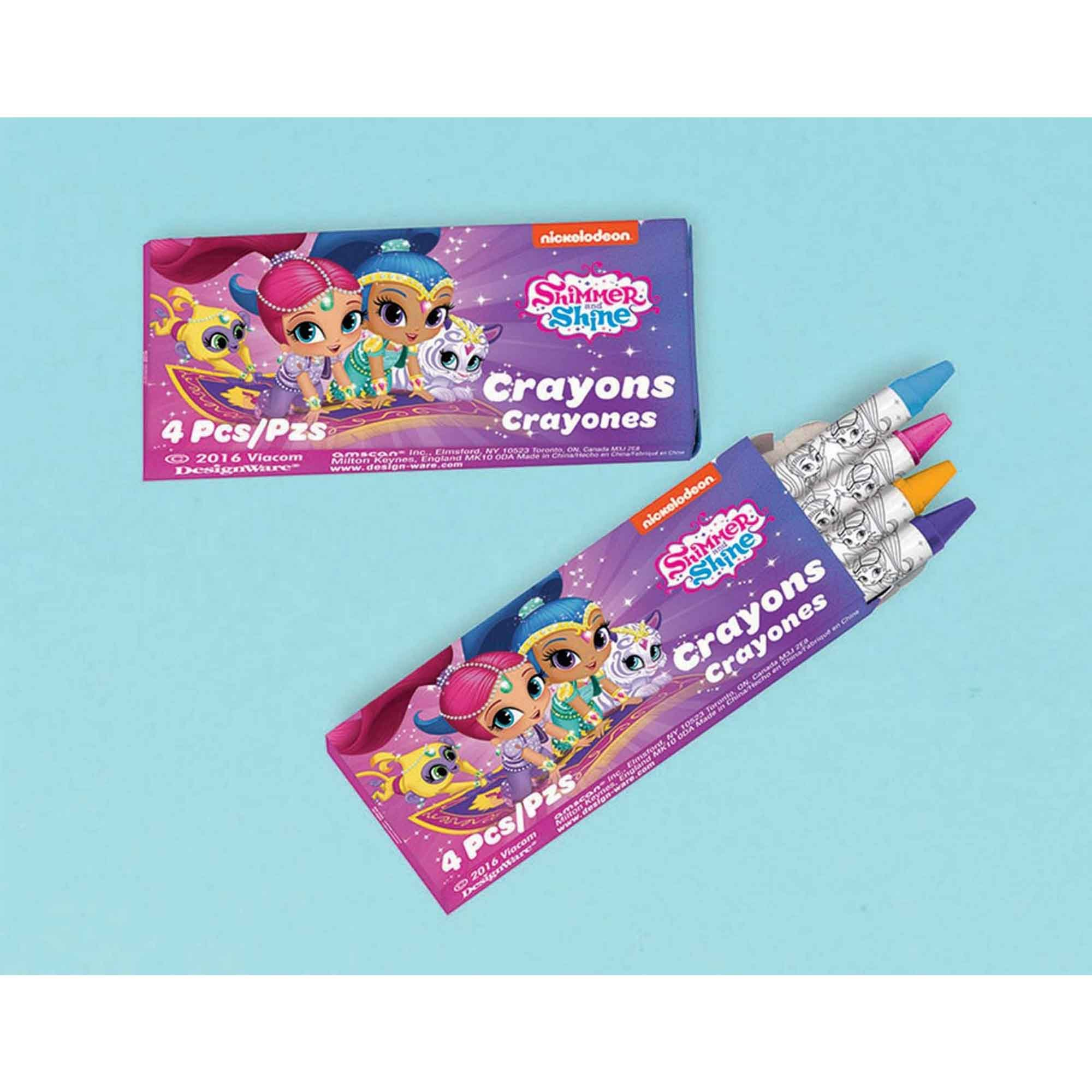 Shimmer and Shine Crayons Favor