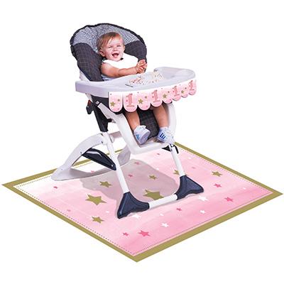 One Little Star Girl High Chair Kit 1st Birthday