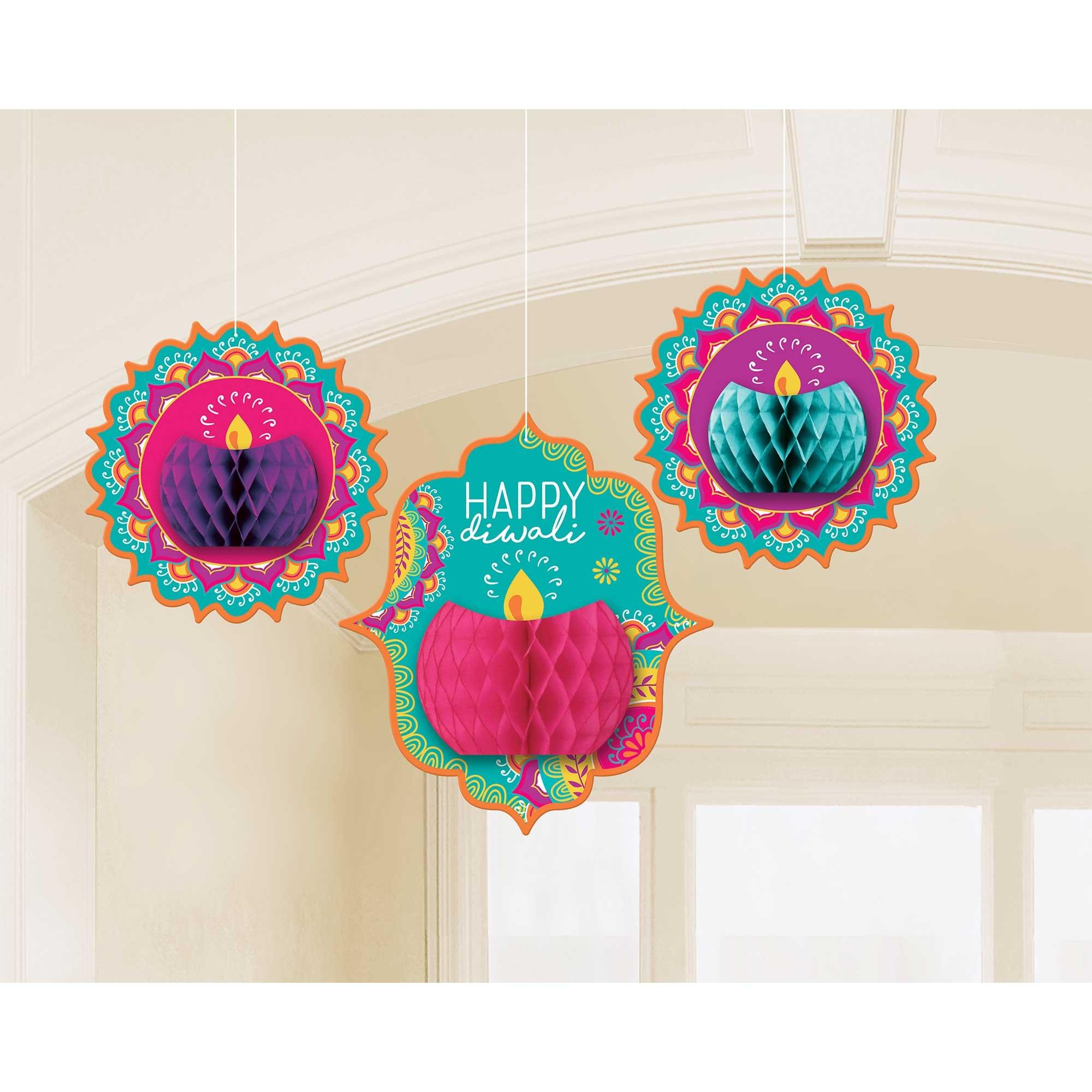 Diwali Honeycomb Hanging Decorations