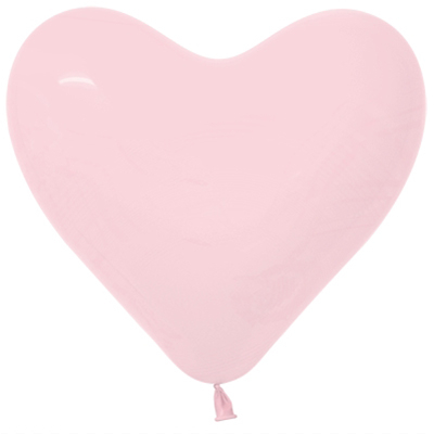 Sempertex 15cm Hearts Fashion Pastel Pink Latex Balloons, 50PK