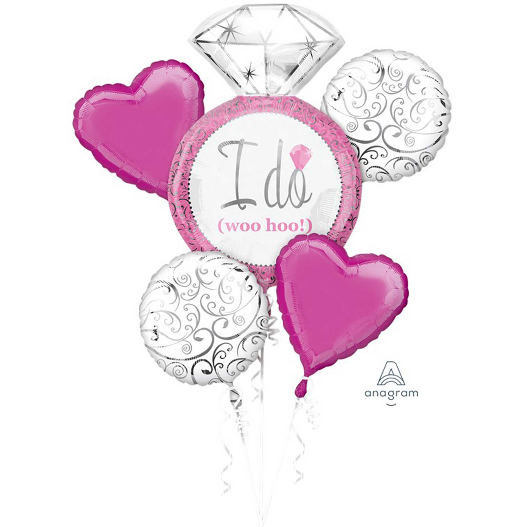 Bouquet Bright Pink Wedding I Do woo hoo P75