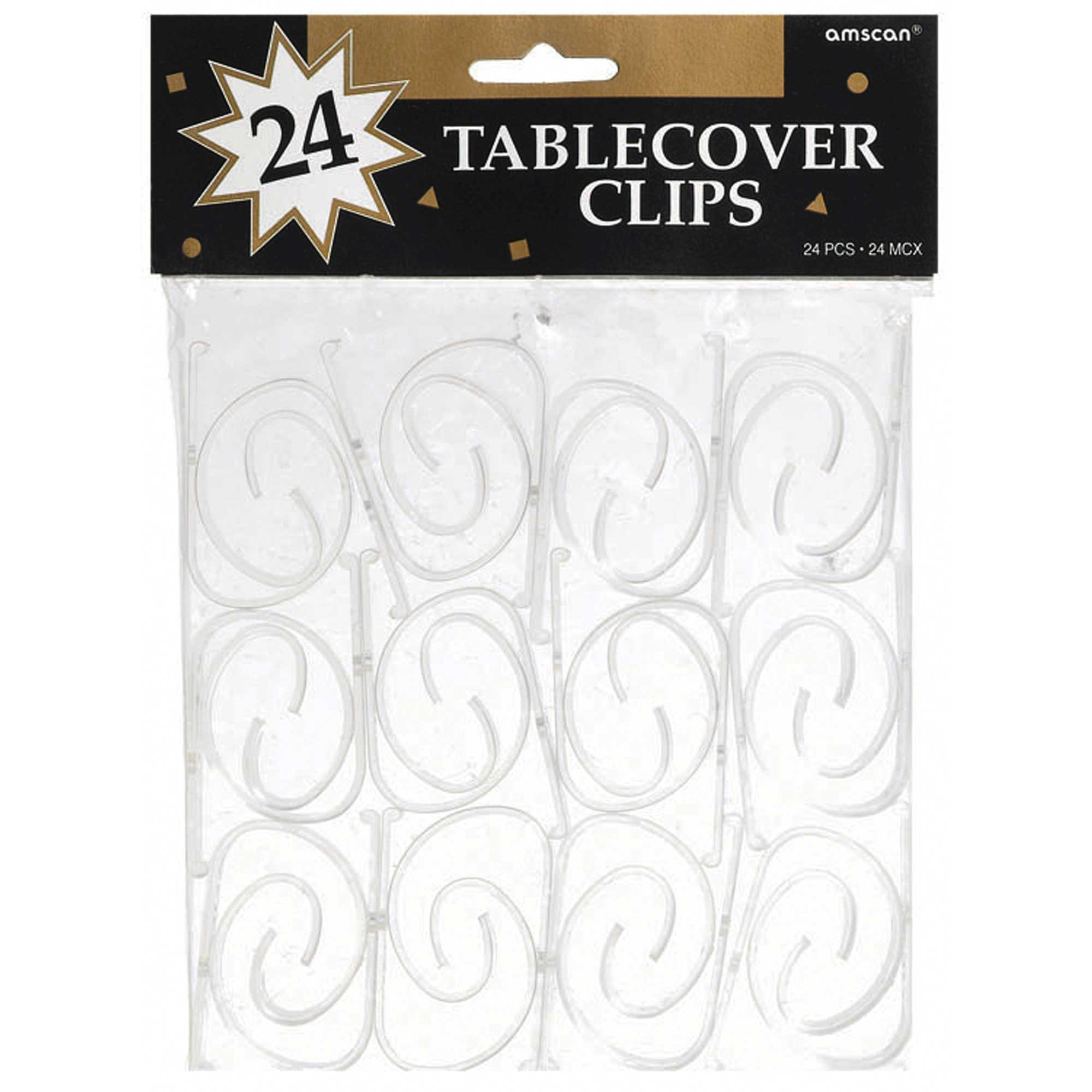 Tablecover Clips Value Pack Clear Plastic