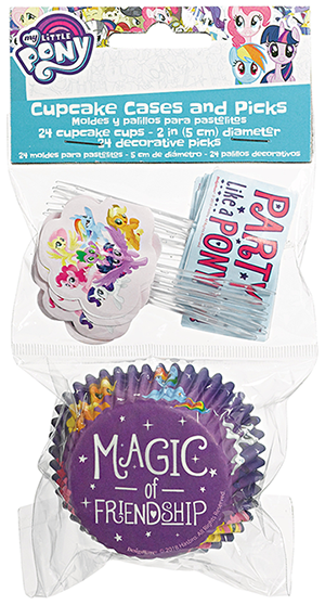 My Little Pony Friendship Adventures Cupcake Cases and Picks