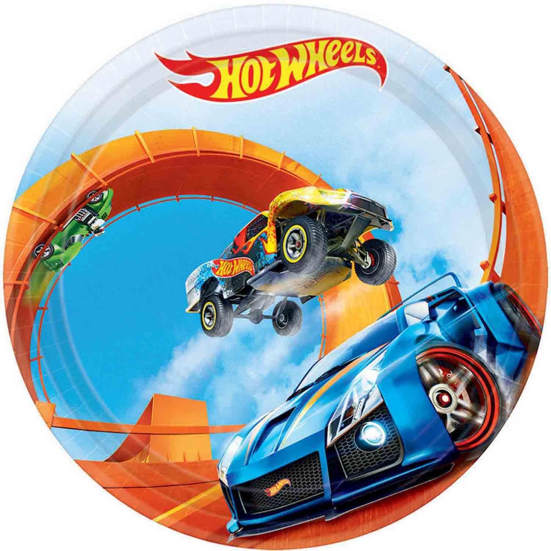 Hot Wheels Wild Racer 17cm Round Plates