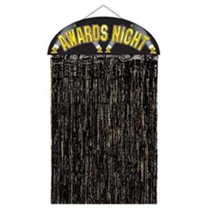 Awards Night Black & Gold Hanging Decoration Door Curtain