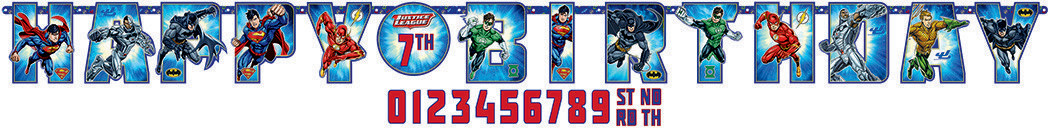 Justice League Jumbo Add-An-Age banner