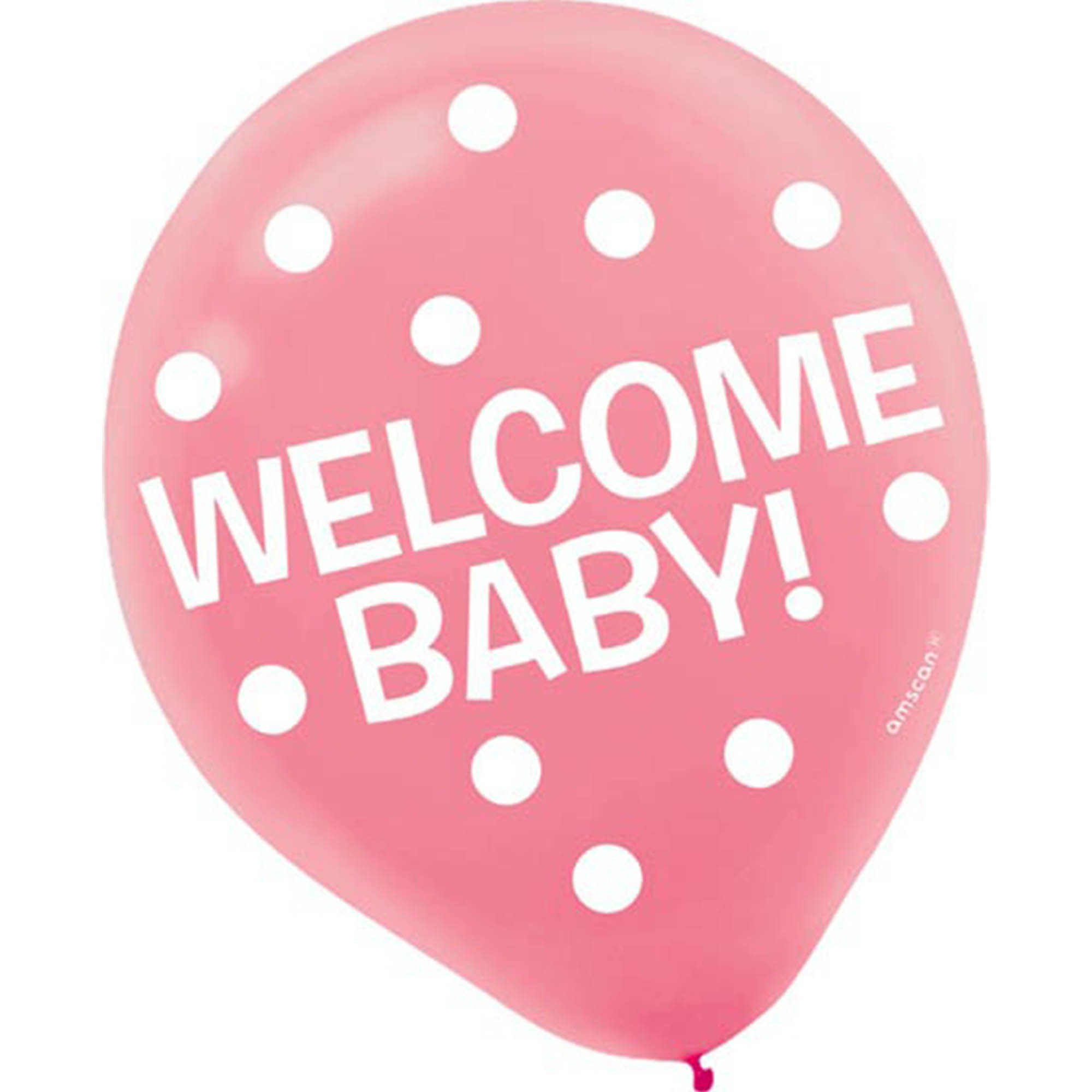 Welcome Baby 30cm Latex Balloons