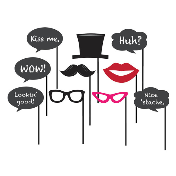 Chalkboard Photo Booth Props Assorted Sizes