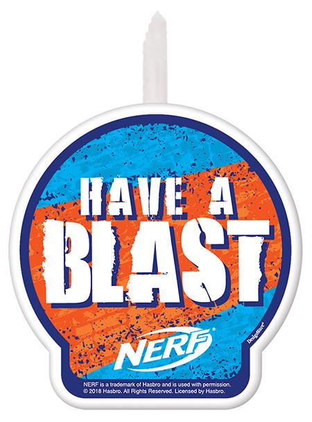Nerf Birthday Candle