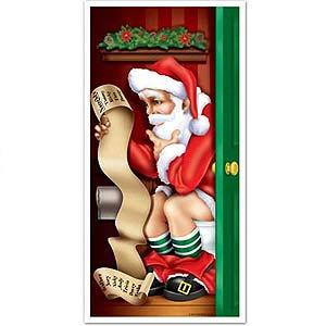 Door Poster Santa Restroom