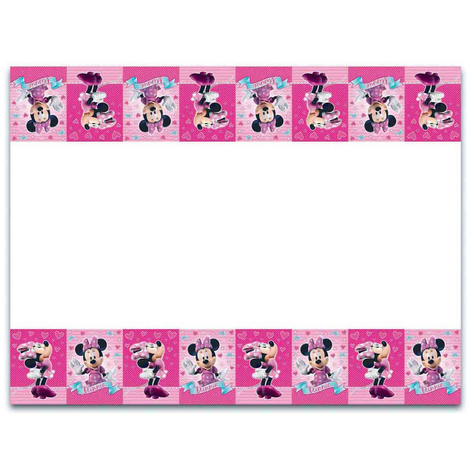Minnie Mouse Tablecover Plastic
