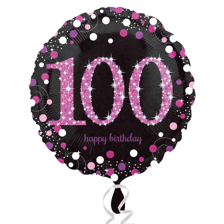 45cm Standard Holographic Pink Celebration 100 S55