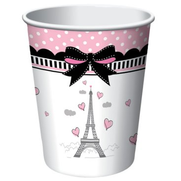 Party in Paris Cups Hot & Cold Paper