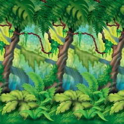 Backdrop Jungle Trees Scene Setter