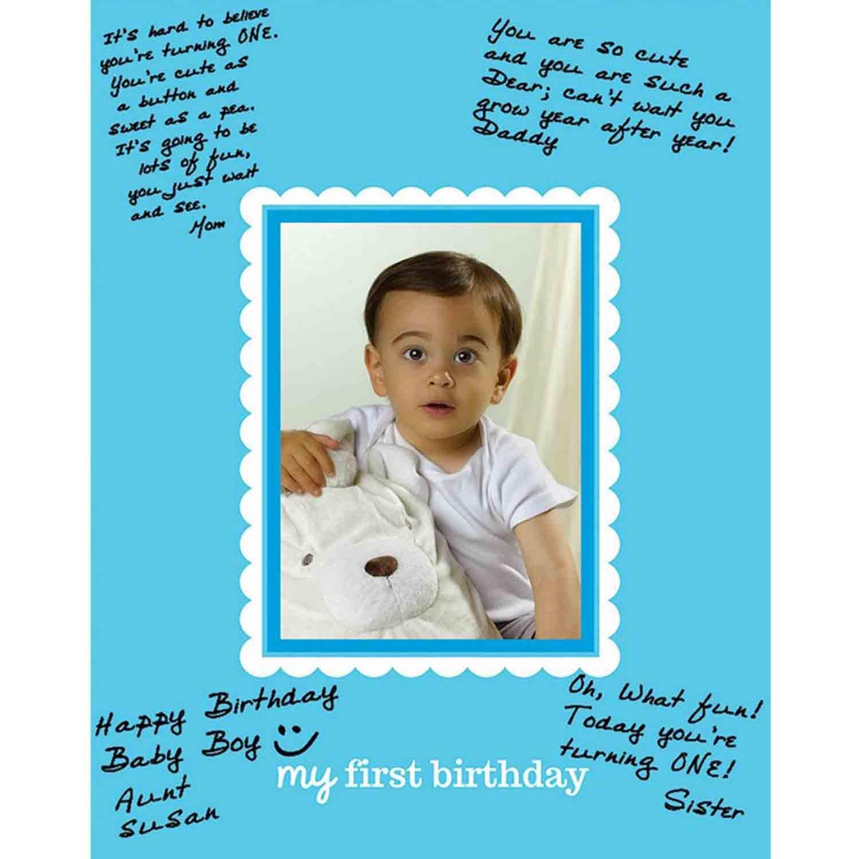 1st Birthday Autograph Photo Frame