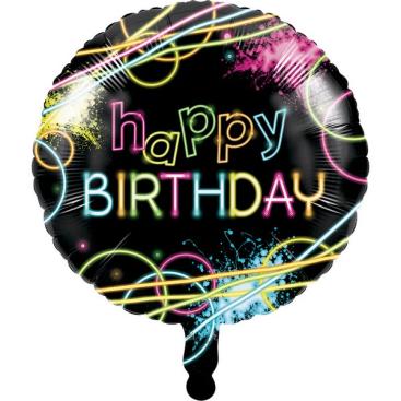 45cm Glow Party Happy Birthday
