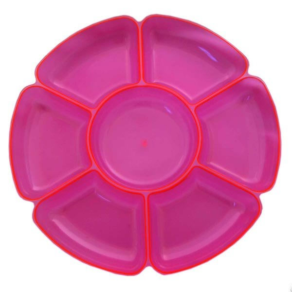 Platter Neon Pink with 7 Sections