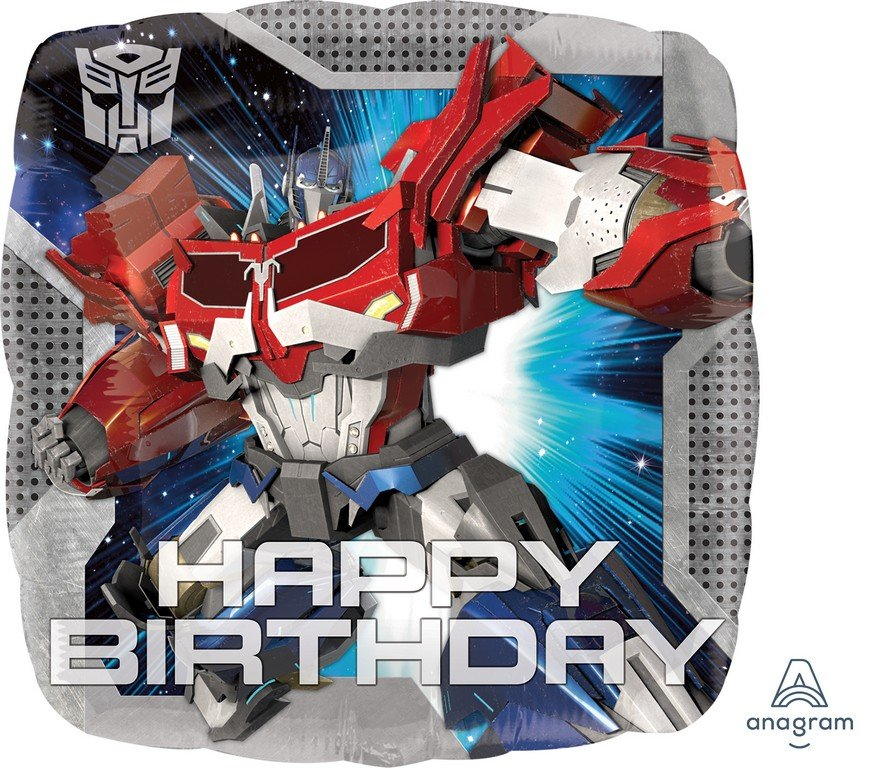 45cm Standard HX Transformers Animated Happy Birthday S60