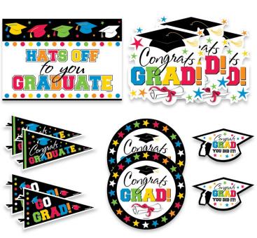 Grad Value Pack Assorted Cutouts Printed Paper - Multicolour