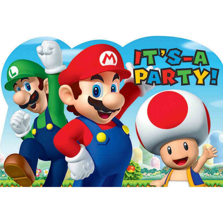 Super Mario Brothers Postcard Invitations