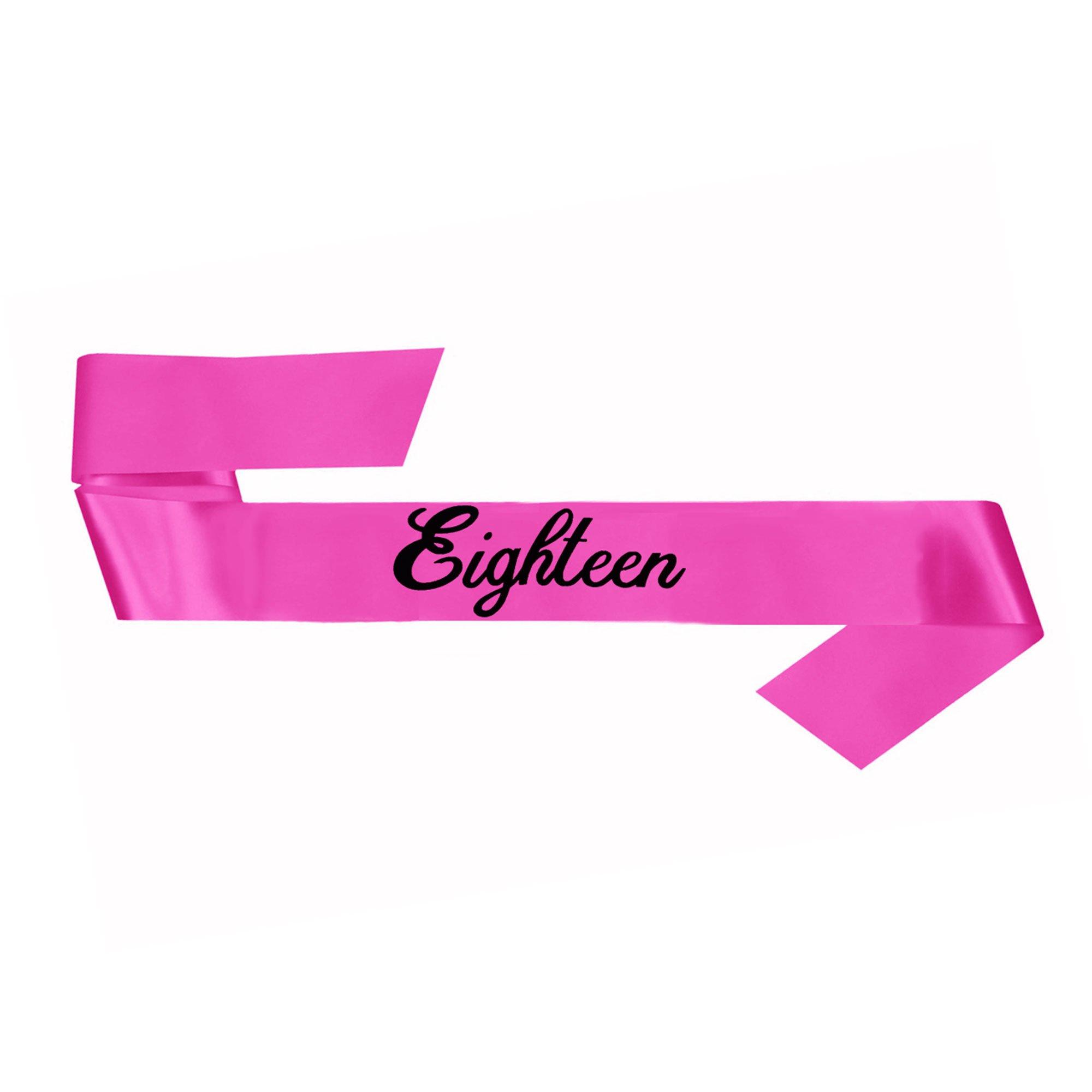 18th Birthday Sash - Pink