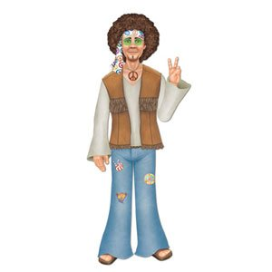 Male Hippie Jointed Cutout