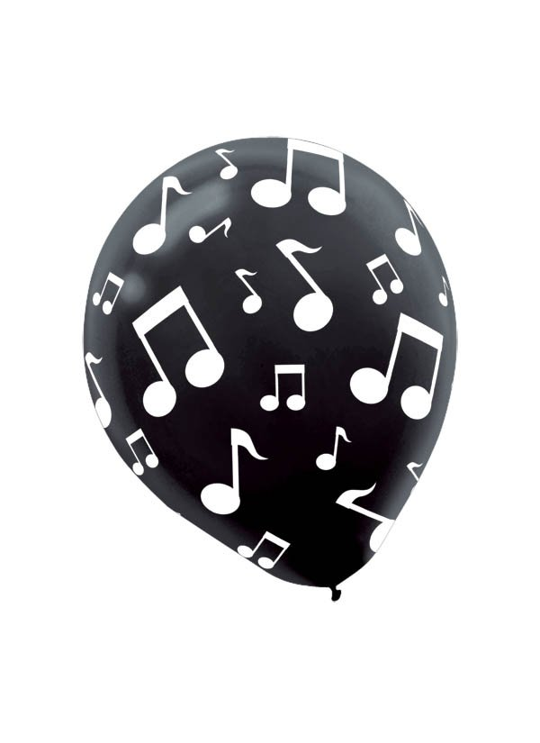 30cm Musical Notes Latex Balloon
