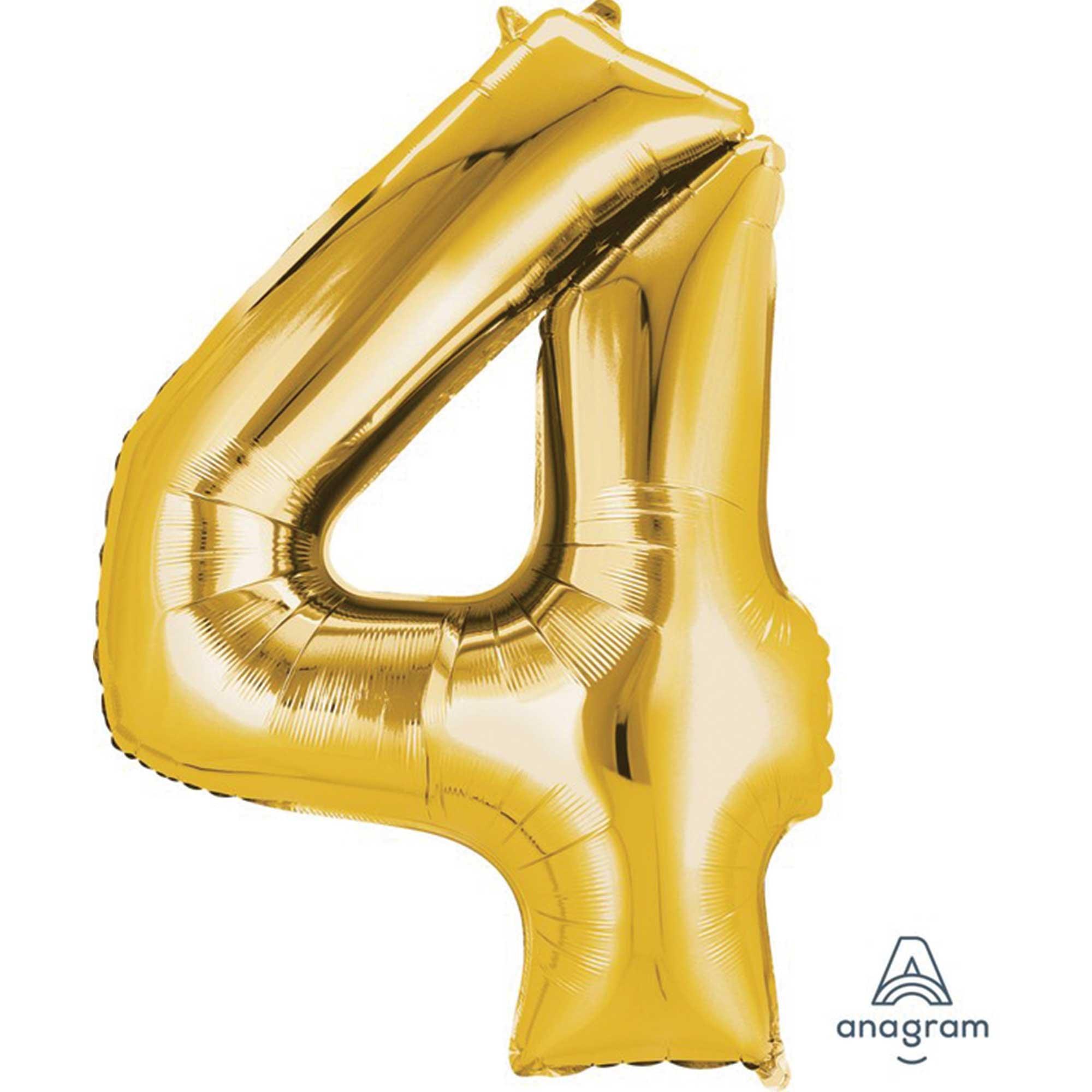 SuperShape Gold Numeral 4.  86cm L34