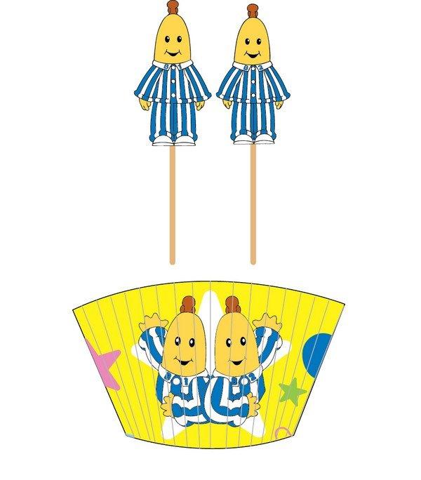 Bananas in Pyjamas Cupcake Cases & Picks