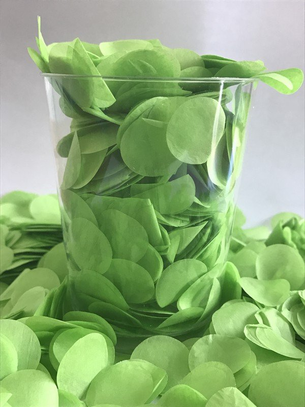Confetti Light Green Tissue Circles 2cm Round