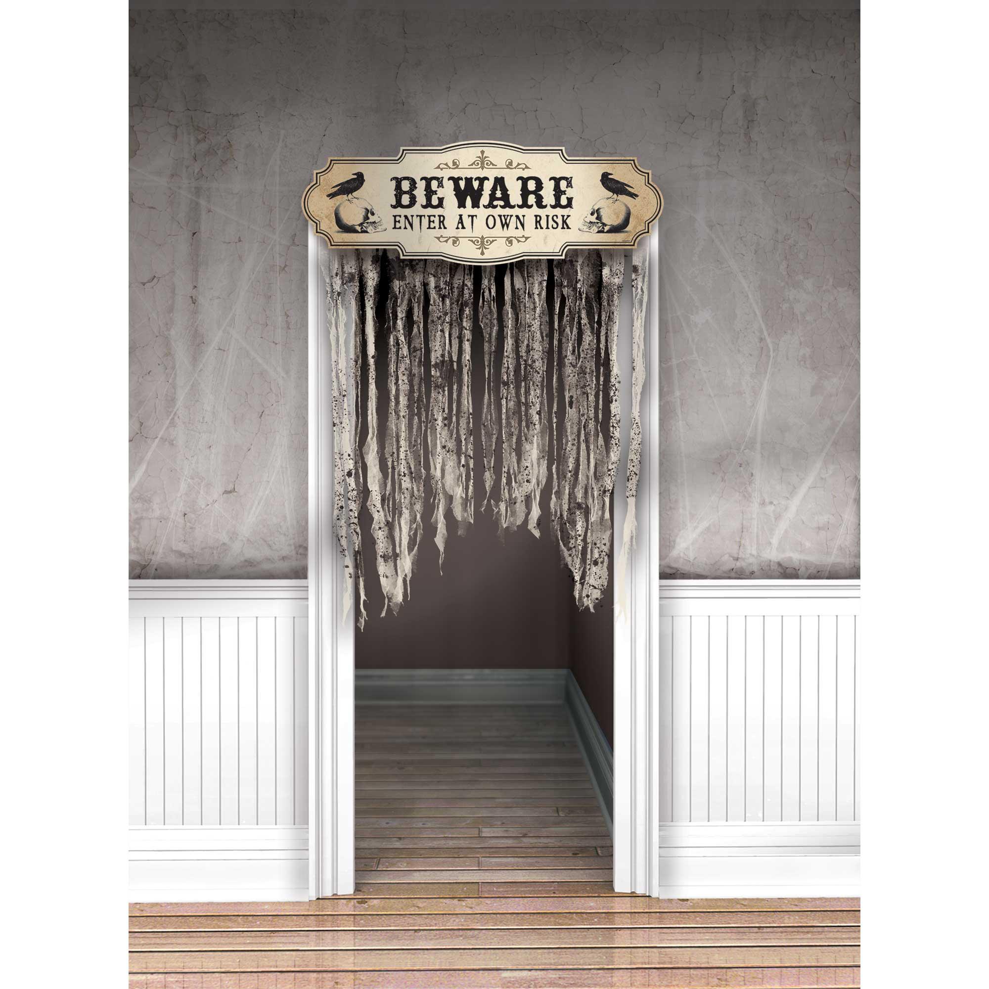 Boneyard Doorway Curtain BEWARE ENTER AT OWN RISK