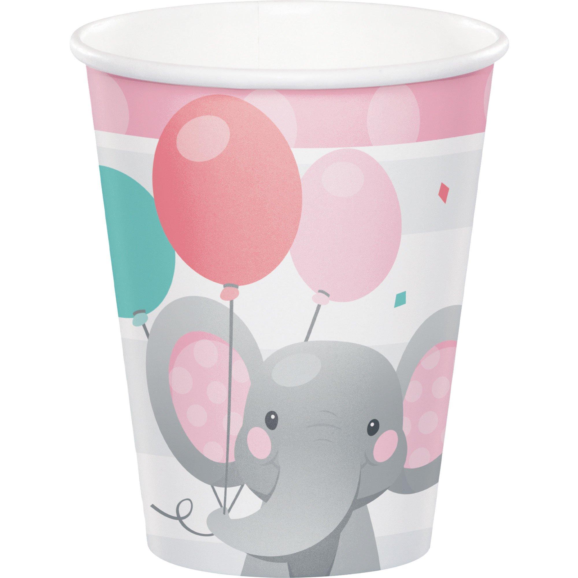 Enchanting Elephant Girl Cups Paper 266ml