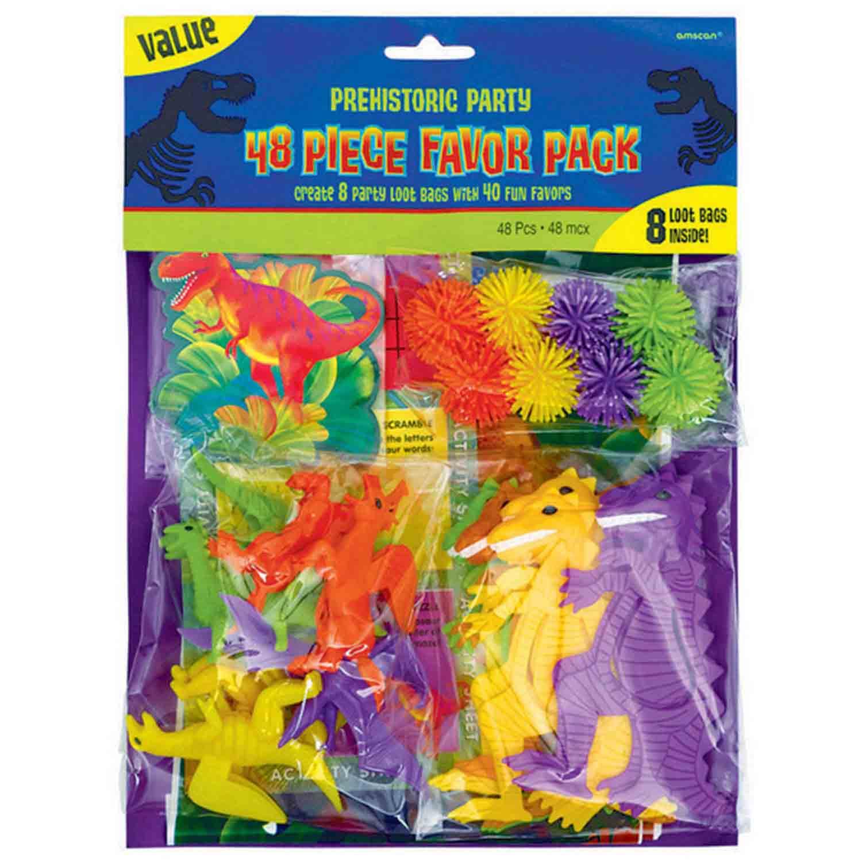 Prehistoric Party Favor Value Mix Pack 48pc