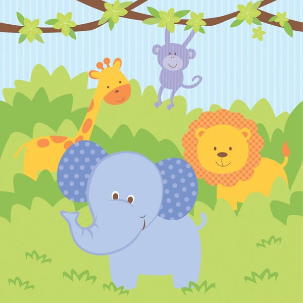 Celebrations Forest Friends Tablecover