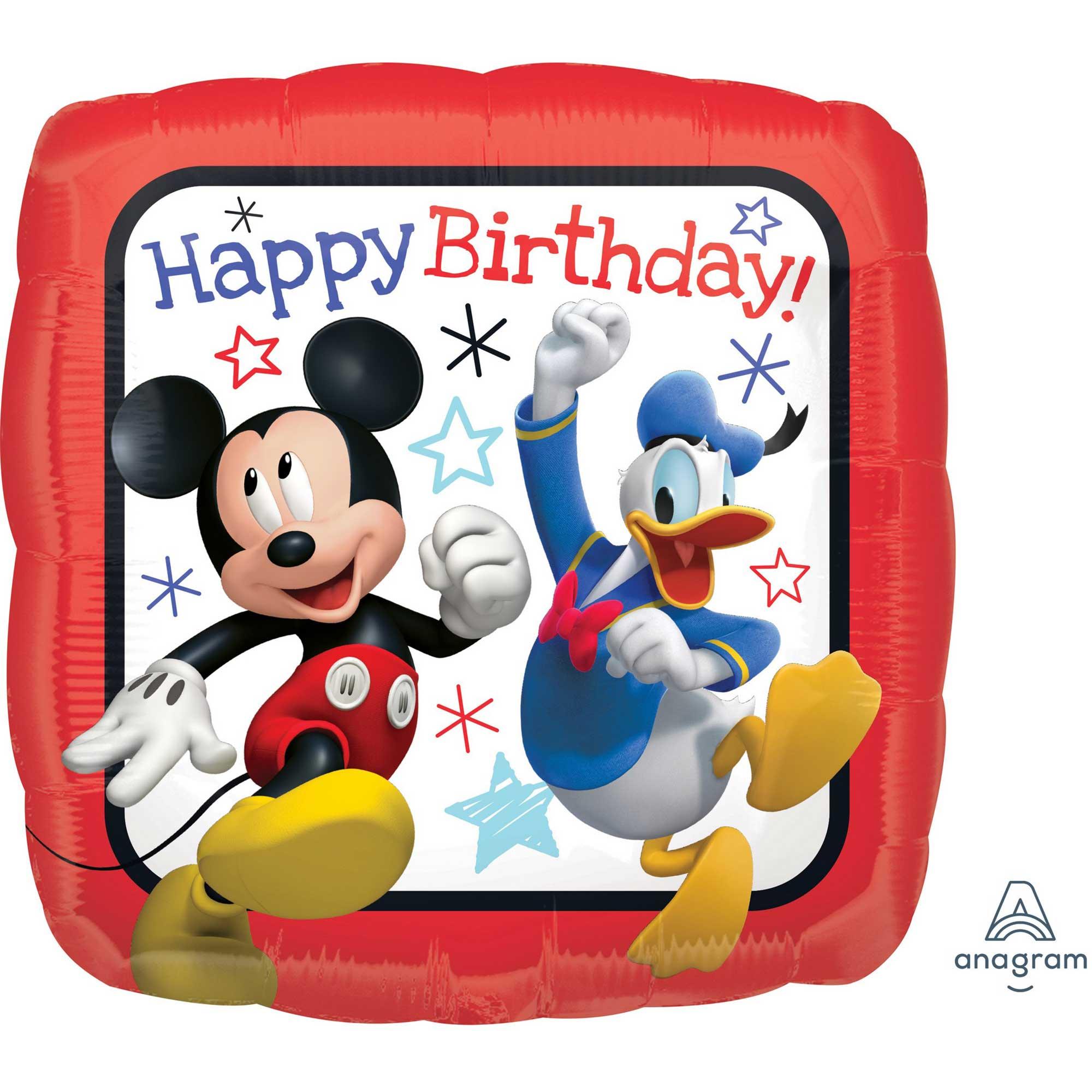 45cm Standard HX Mickey Roadster Racers Happy Birthday S60