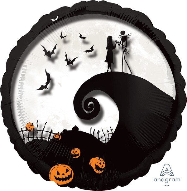 Jumbo Shape Panoramic Nightmare Before Christmas Foil Balloon P45